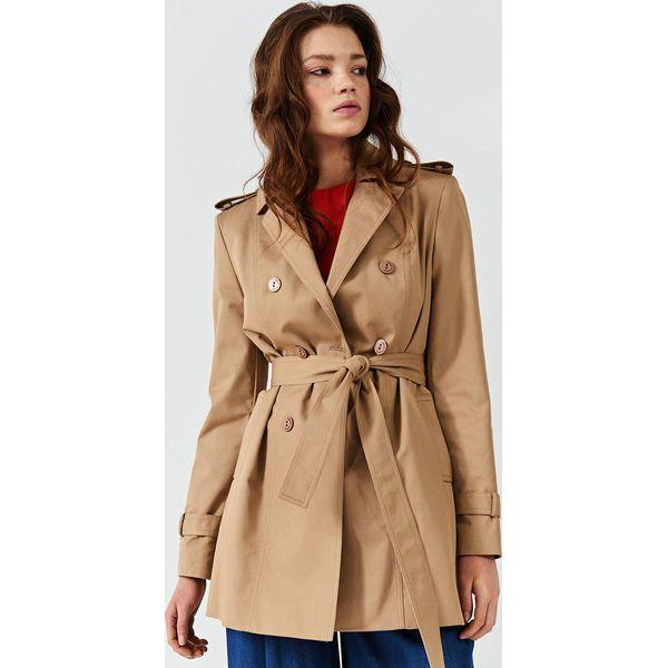 9ece68f671 Simple - Płaszcz - Brązowe płaszcze damskie marki Simple