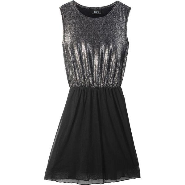 6d9b29d9f7 Sukienka dziewczęca na party bonprix czarno-srebrny - Sukienki dla ...