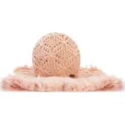 Komplet czapka + komin 87-SF-005-P. Brązowe czapki i kapelusze damskie Wittchen, na zimę, z dzianiny. Za 99.00 zł.