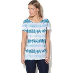 Colour Pleasure Koszulka damska CP-034  281 niebiesko-błękitno-biała r. M-L. T-shirty damskie Colour Pleasure. Za 70.35 zł.
