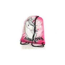 Worek - plecak  z jednorożcem Diamond Unicorn Collection. Szare torby i plecaki dziecięce Shellbag, z zamszu. Za 45.00 zł.