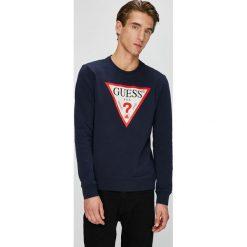 Guess Jeans - Bluza. Czarne bluzy męskie Guess Jeans, z aplikacjami, z bawełny. Za 349.90 zł.