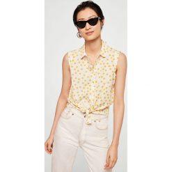 Mango - Koszula Paula2. Szare koszule damskie Mango, z krótkim rękawem. W wyprzedaży za 49.90 zł.