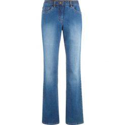 """Dżinsy z rozkloszowanymi nogawkami bonprix niebieski """"stone"""". Niebieskie jeansy damskie bonprix. Za 119.99 zł."""