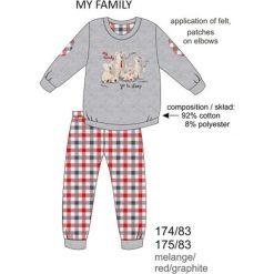 Piżama chłopięca DR 174/83 My family Melanż szara r. 116. Szare bielizna dla chłopców Cornette, melanż. Za 50.80 zł.