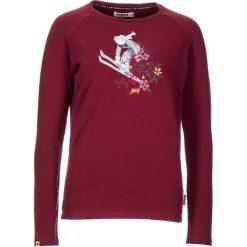"""Koszulka """"Nehalem"""" w kolorze bordowym. Czerwone bluzki damskie Maloja, z aplikacjami, z okrągłym kołnierzem, z długim rękawem. W wyprzedaży za 108.95 zł."""