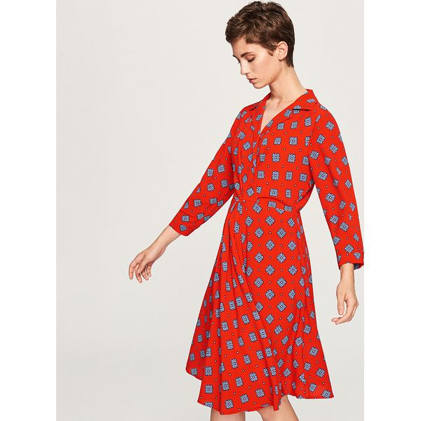 428333420e Sukienka we wzory - Czerwony - Czerwone sukienki damskie marki ...