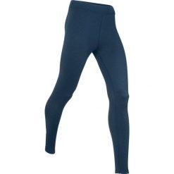 Legginsy termoaktywne sportowe, długie, LEVEL 3 bonprix ciemnoniebieski melanż. Bielizna termoaktywna damska marki DOMYOS. Za 59.99 zł.