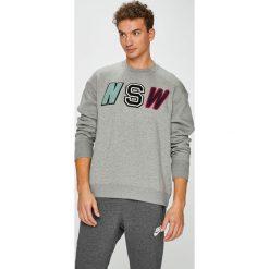 Nike Sportswear - Bluza. Szare bluzy męskie Nike Sportswear, z aplikacjami, z bawełny. W wyprzedaży za 259.90 zł.