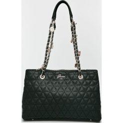 Guess Jeans - Torebka. Czarne torby na ramię damskie Guess Jeans. W wyprzedaży za 499.90 zł.