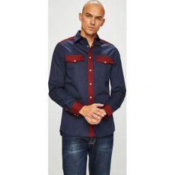 Calvin Klein - Koszula. Czarne koszule męskie Calvin Klein, z bawełny, z klasycznym kołnierzykiem, z długim rękawem. Za 449.90 zł.