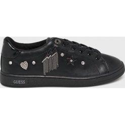 Guess Jeans - Buty. Czarne obuwie sportowe damskie Guess Jeans, z aplikacjami, z jeansu. Za 469.90 zł.