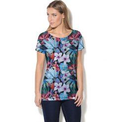 Colour Pleasure Koszulka CP-034  162 niebiesko-zielona r. XL/XXL. T-shirty damskie Colour Pleasure. Za 70.35 zł.