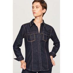 Jeansowa koszula - Granatowy. Niebieskie koszule damskie Reserved, z jeansu. Za 139.99 zł.