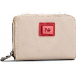 Duży Portfel Damski NOBO - NPUR-0290-C015 Beżowy Z Czerwonym. Brązowe portfele damskie Nobo, ze skóry ekologicznej. W wyprzedaży za 79.00 zł.