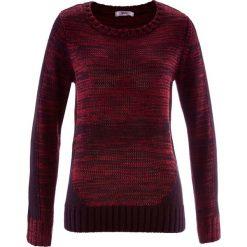 Sweter, długi rękaw bonprix czerwony klonowy melanż. Swetry damskie marki bonprix. Za 79.99 zł.
