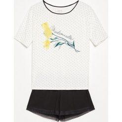 Piżama z szortami - Biały. Białe piżamy damskie Reserved. W wyprzedaży za 59.99 zł.