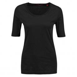 S.Oliver T-Shirt Damski 40 Czarny. Czarne t-shirty damskie S.Oliver, z bawełny. W wyprzedaży za 39.00 zł.