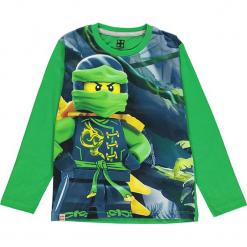 Koszulka w kolorze zielonym. Zielone t-shirty dla chłopców marki Lego Wear Fashion, z bawełny, z długim rękawem. W wyprzedaży za 42.95 zł.