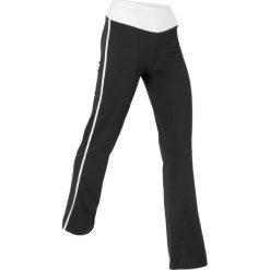 """Spodnie """"palazzo"""", długie, Level 1 bonprix czarny. Czarne spodnie materiałowe damskie bonprix, w paski. Za 59.99 zł."""