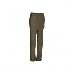 Spodnie turystyczne Travel 100 damskie. Brązowe spodnie materiałowe damskie QUECHUA, z bawełny. Za 99.99 zł.