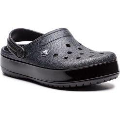 Klapki CROCS - Crocband Glitter Clog 205419 Black. Czarne klapki damskie Crocs, z materiału. W wyprzedaży za 159.00 zł.