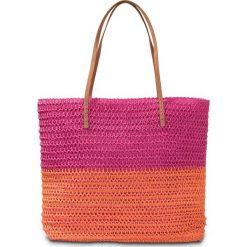 Torba plażowa bonprix pomarańczowo-różowy. Brązowe torebki shopper damskie bonprix. Za 79.99 zł.