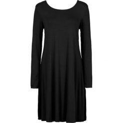 Sukienka shirtowa bonprix czarny. Czarne sukienki damskie bonprix, z okrągłym kołnierzem. Za 99.99 zł.