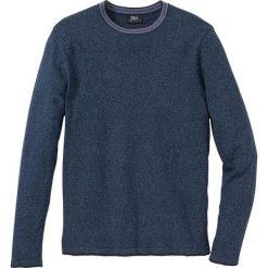Sweter z bawełny z recylingu bonprix ciemnoniebieski melanż. Swetry przez głowę męskie marki Giacomo Conti. Za 69.99 zł.