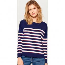 Sweter w paski - Niebieski. Niebieskie swetry damskie Mohito. Za 59.99 zł.