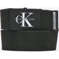 Calvin Klein Jeans - Pasek. Czarne paski damskie Calvin Klein Jeans, w paski, z jeansu. W wyprzedaży za 139.90 zł.