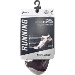 Skarpety Niskie Unisex ASICS - Nimbus St Sock ZK2653  Real White/Dark Grey 0779. Skarpety męskie Asics, z elastanu. Za 68.80 zł.