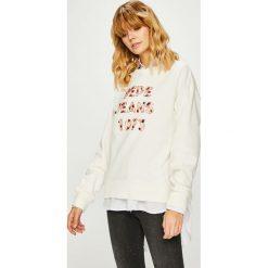 Pepe Jeans - Bluza Vickies. Szare bluzy damskie Pepe Jeans, z aplikacjami, z bawełny. Za 339.90 zł.