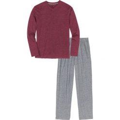 Piżama bonprix bordowo-szary melanż. Czerwone piżamy męskie bonprix, melanż. Za 49.99 zł.