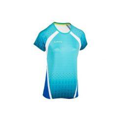 Koszulka do siatkówki V500 damska zielona. Niebieskie t-shirty damskie KIPSTA, z tkaniny. Za 49.99 zł.