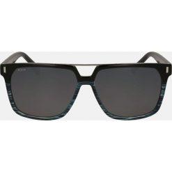 Niebieskie czarne okulary przeciwsłoneczne męskie. Czarne okulary przeciwsłoneczne męskie Kazar, z tworzywa sztucznego. Za 349.00 zł.