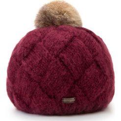 Czapka damska 87-HF-031-2. Czerwone czapki i kapelusze damskie Wittchen, z dzianiny. Za 119.00 zł.