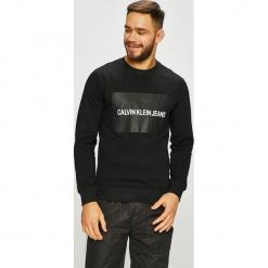 Calvin Klein Jeans - Bluza. Czarne bluzy męskie Calvin Klein Jeans, z nadrukiem, z bawełny. Za 399.90 zł.