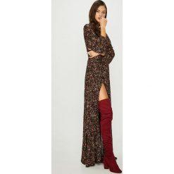Answear - Sukienka. Szare sukienki damskie ANSWEAR, z tkaniny, casualowe, z długim rękawem. Za 299.90 zł.