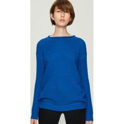 Sweter basic - Niebieski. Niebieskie swetry damskie Sinsay. Za 49.99 zł.