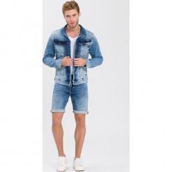 Kurtka dżinsowa - Slim fit - w kolorze błękitnym. Niebieskie kurtki męskie Cross Jeans. W wyprzedaży za 136.95 zł.