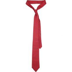 Krawat Czerwony Wzór Geometryczny. Czerwone krawaty i muchy LANCERTO, w geometryczne wzory, eleganckie. Za 139.90 zł.