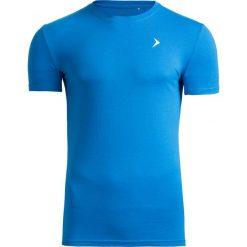T-shirt męski TSM601 - niebieski - Outhorn. Niebieskie t-shirty męskie Outhorn, na lato, z bawełny. W wyprzedaży za 29.99 zł.