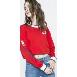 Nike Sportswear - Bluza dwustronna. Czerwone bluzy damskie Nike Sportswear, z nadrukiem, z bawełny. W wyprzedaży za 219.90 zł.