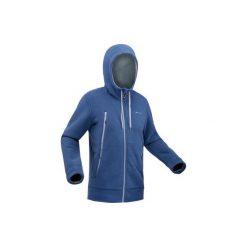 Kurtka polarowa turystyczna SH100 ultra-warm męska. Niebieskie kurtki męskie QUECHUA, z polaru. Za 129.99 zł.