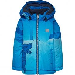 Kurtka zimowa w kolorze niebieskim. Niebieskie kurtki i płaszcze dla chłopców Lego Wear Snow, na zimę. W wyprzedaży za 199.95 zł.