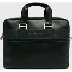 Tommy Hilfiger - Torba. Czarne torby na laptopa męskie Tommy Hilfiger, w paski, z materiału. Za 749.90 zł.