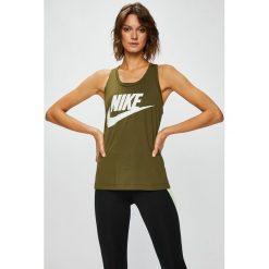 Nike Sportswear - Top 831731. Szare topy damskie Nike Sportswear, z nadrukiem, z dzianiny, z okrągłym kołnierzem, bez rękawów. W wyprzedaży za 99.90 zł.