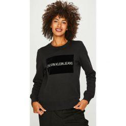 Calvin Klein Jeans - Bluza. Czarne bluzy damskie Calvin Klein Jeans, z jeansu. Za 399.90 zł.