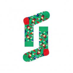 Skarpetki Happy Socks - Holiday XMAS (GGN01-7000). Szare skarpety męskie Happy Socks, w kolorowe wzory, z bawełny. Za 34.90 zł.